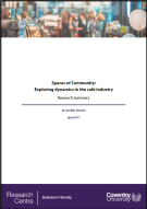 Spaces of Community Report Cafe Industry