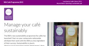 The Sustainable Restaurant Association website