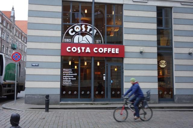 Costa coffee front Riga