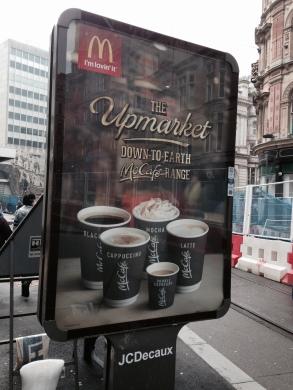 McCafe advert birmingham coffee