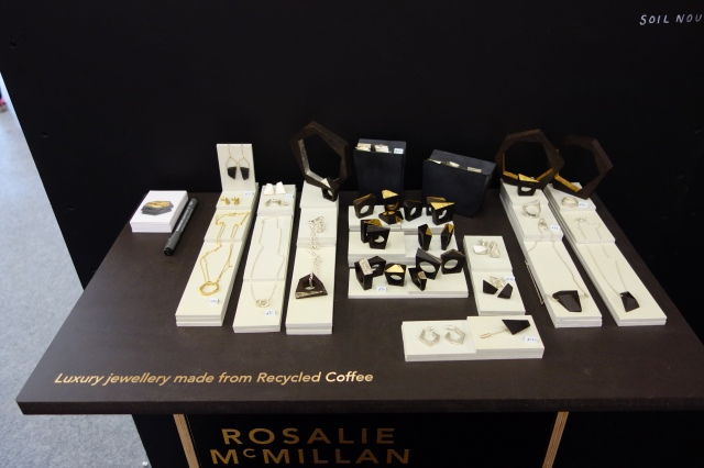 Recycled coffee jewellery