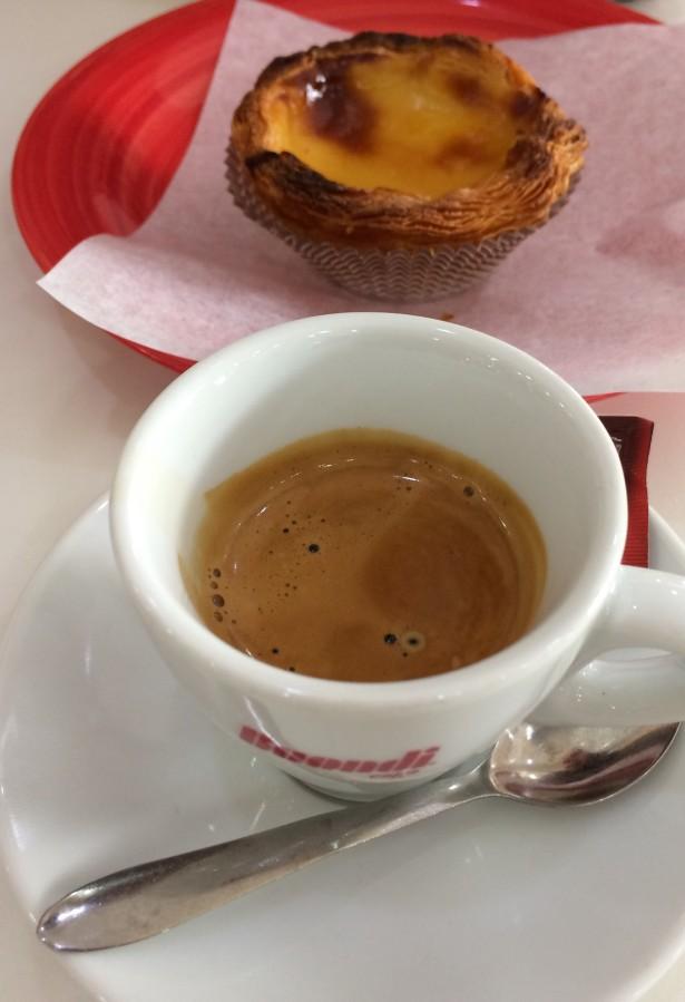 Coffee and pastel de nata portugal