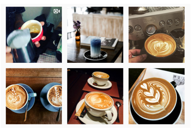 Instagram coffee pictures