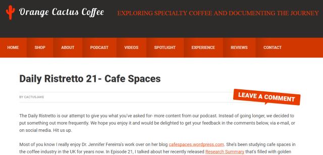 Orange Cactus Coffee Cafe Spaces