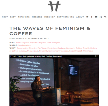 The waves of feminism and coffee