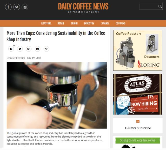 Daily Coffee News Jennifer Ferreira Sustainability Coffee Shops